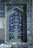 Detail, Medresseh tiled window — Stock Photo