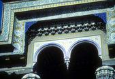 Ahşap kemerli ve tavan — Stok fotoğraf