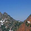 Exposed steep rocky face of Red Mountain, - Stockfoto
