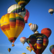Tourists ride hot air ballons — Stock fotografie #13985503
