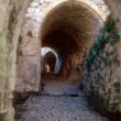 Entrance maze of Krak des Chevaliers — Stock Photo