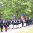 Stock Photo: Union troops marching in column formation,