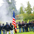 Union color guard displays the flag — Photo