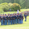 Stock Photo: Union infantry in line formation for review