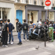 Young gather around their motorcycles — Stockfoto #13987487