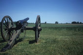 Napoleon, 12 lb cannon, Confederate lines, — Stock Photo