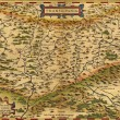 Antique Map of Transylvania, Romania — Stock Photo