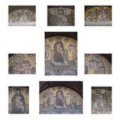 Byzantine mosaics in Hagia Sophia, — Stock Photo