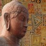 Head of Buddha, — Stock Photo