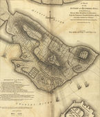 Map of the Battle of Bunker Hill — Stock Photo