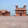 Stock Photo: Harem palace of red sandstone
