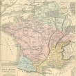 Antique map of Ancient Gaul (France) — Stock Photo #18243523