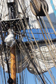 Masts, sails and rigging — Photo