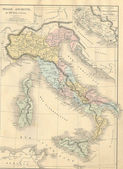 Antique map of Ancient Italy — Photo