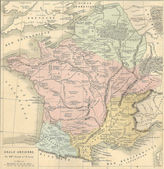 Antique map of Ancient Gaul (France) — Stock Photo