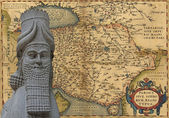 Mythical man-beast of Assyria, — Stock Photo