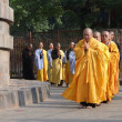 Stock Photo: Japanese monks and nuns perform Buddhist rituals