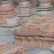 Ruins of ancient Buddhist monastery - Stock Photo