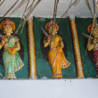 Parvati goddess statues guarding Shiva temple -  