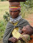 Bonda tribal woman poses for a portrait — Stock Photo