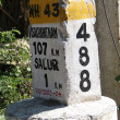 Milestone marker — Stock Photo