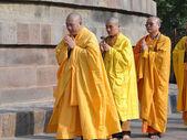 Japonští mnichové provádět buddhistické rituály — Stock fotografie