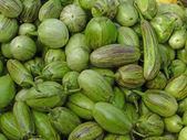 Kleine, grüne auberginen — Stockfoto