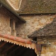 Stock Photo: Intersecting rooflines of cloister