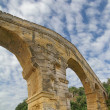 Pont du Gard Romaqueduct — Stock Photo #18386225