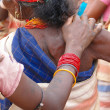 Tribal women link arms — Stock Photo #18386365