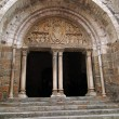 Stock Photo: 12th century tympanum sculpture