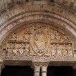 12th century tympanum sculpture — Stock Photo