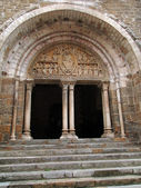 12th century tympanum sculpture — Stock Photo