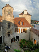 Courtyard of a medieval chateau — Стоковое фото