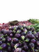 Aubergine und anderes gemüse — Stockfoto