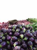 Lilek a ostatní zelenina — Stock fotografie