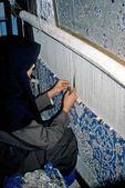 カーペットの織工 — ストック写真