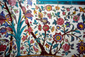 Floral mosaic on Madrese-e Khan — Stock Photo