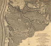 Map of Burgoyne's army, Saratoga, 1777 — Stock Photo