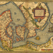 Antique Map of Denmark — Stock Photo