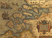 Antique Map of the Netherlands — Stock Photo
