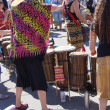 Okanagan Drum group performs — 图库照片