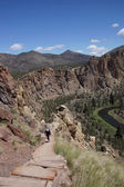 Valley floor of the Crooked River — Stockfoto