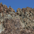 Stock Photo: Craggy rhyolite ridge