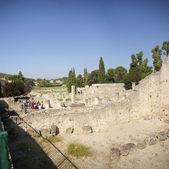 Ruins of Roman villas — Stock Photo