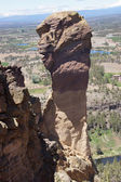 Climbers on the overhanging cliff of Monkey Face — Stock Photo