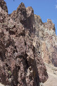 Craggy rhyolite ridge — Stock Photo
