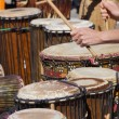 Stock Photo: Drummers playing at Saturday market
