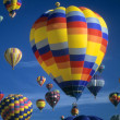 Hot air balloons agaisnt blue sky — Stock Photo