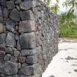 Постер, плакат: Ancient Hawaiian volcanic stone wall
